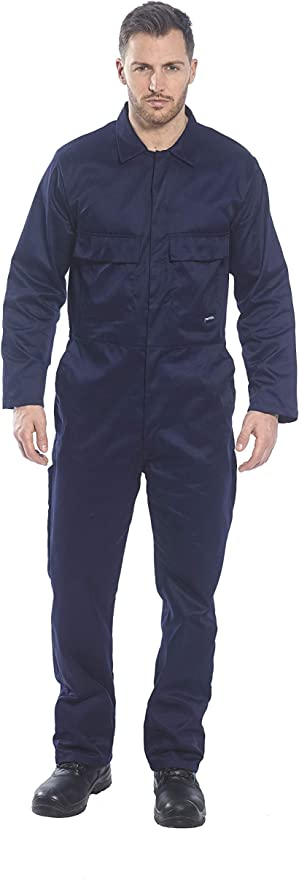 Regular Portwest S999NARXS Euro Work Polycotton Coverall Navy Size: X-Small