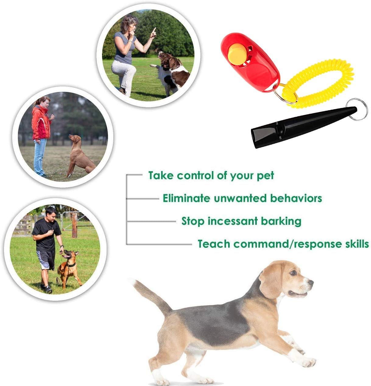 3Pcs Hunde Training Pfeife Professionelle mit Umh/ängeband f/ür Aufh/ören zu Bellen St/ücke Hundepfeifen /& Hunde Klicker