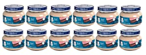Gerber 2nd Foods Beef & Gravy Baby Food, 2.5 ounce, 12-Pack