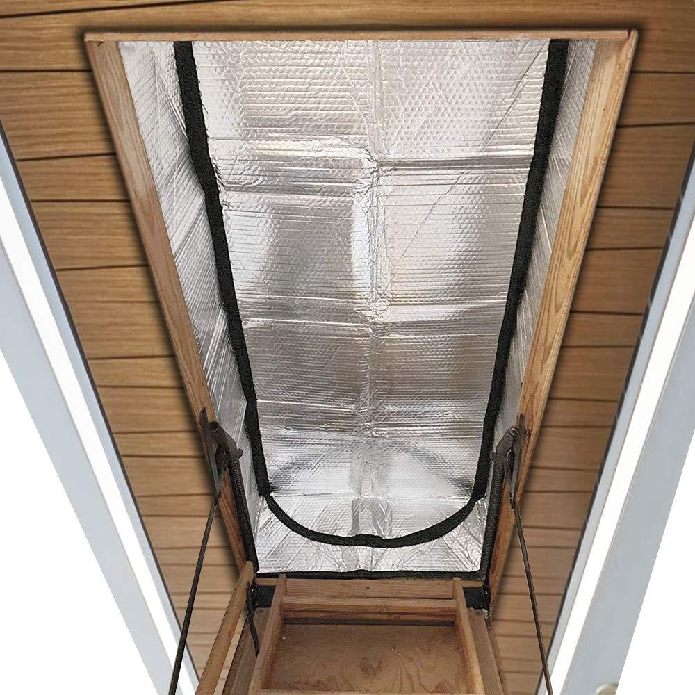 YIZRIO Attic Stairway Insulation Cover - 25'' x 54'' x 11'' - R-Value of 15.3 - Fireproof Attic Tent Insulation Cover Attic Door Insulation Cover Attic Stairs Insulator by YIZRIO