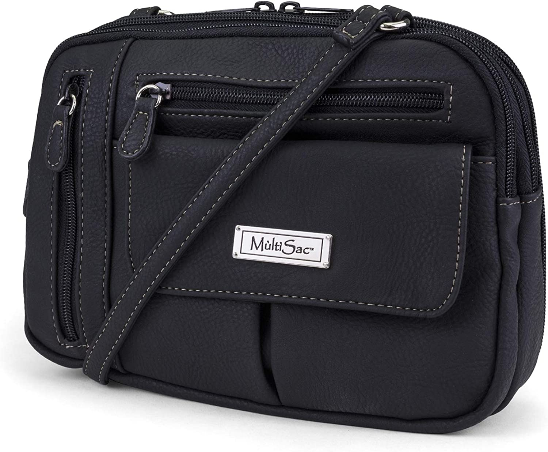MultiSac Zippy Triple Compartment Crossbody Bag