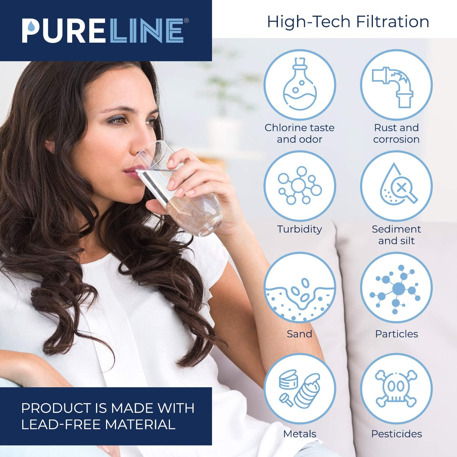 Compatible with PUR CRF950Z and Most PUR Pitchers and Dispensers PURELINE CRF950Z Water Pitcher Filter Replacement 4 Pack