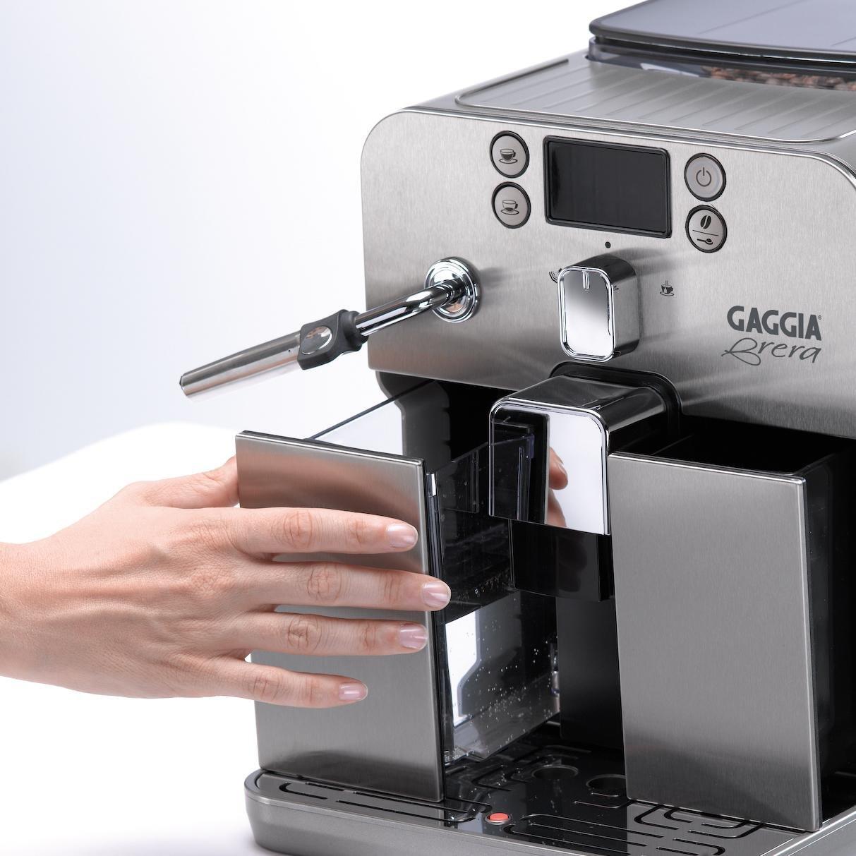 Gaggia Brera Super Automatic Espresso Machine in Silver. Pannarello Wand Frothing for Latte and Cappuccino Drinks. Espresso from Pre-Ground or Whole Bean Coffee. by Gaggia (Image #8)