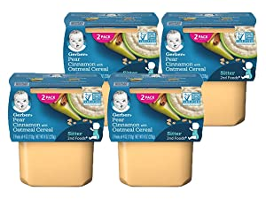 Gerber 2nd Foods - Pears & Cinnamon with Oatmeal (Pack of 4)