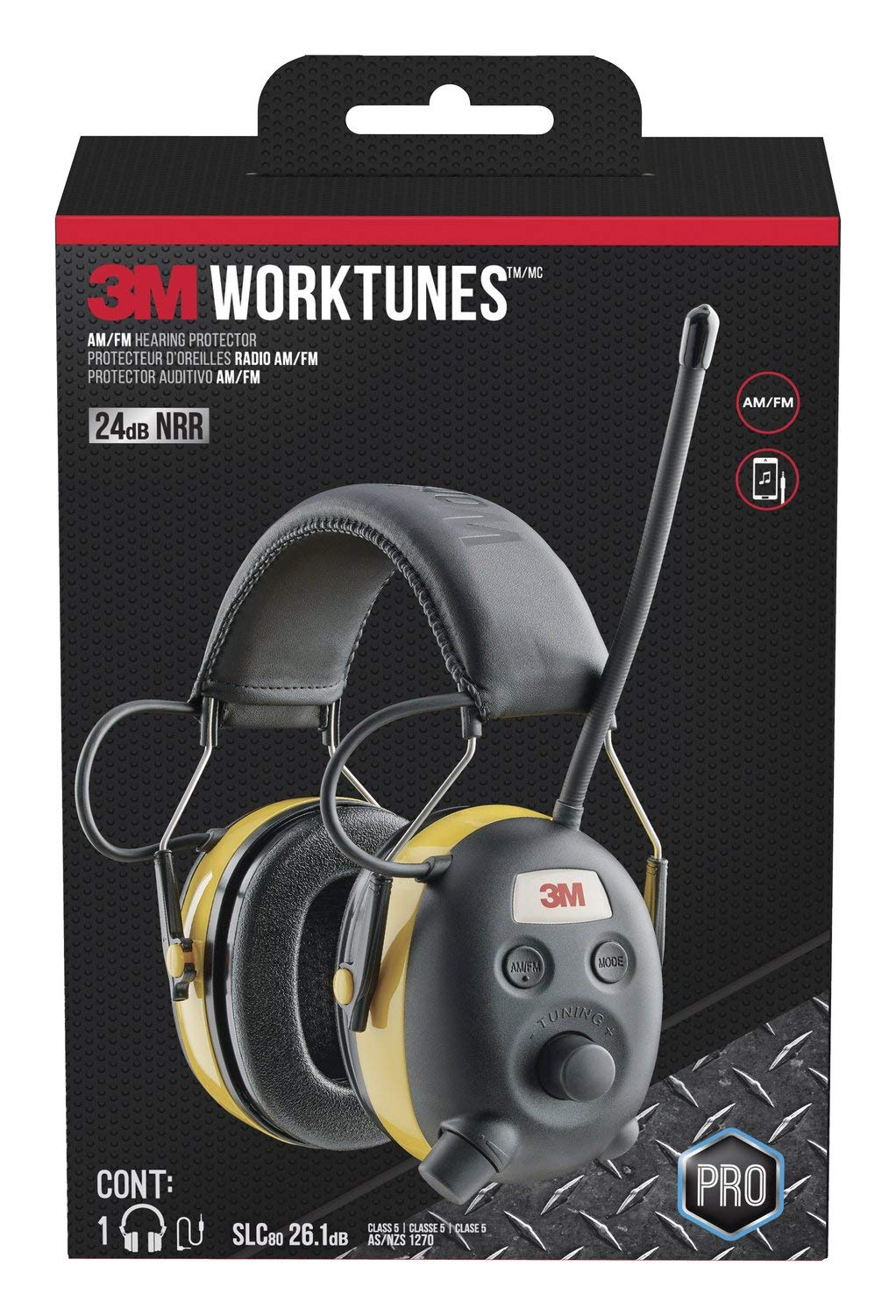 3M WorkTunes Connect Hearing Protector, Wired - 90541-80025T