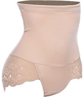fe762bd80d Hi-Waist Butt Lift Lace Trim Tummy Control Panties Thigh Trimmer Shaper  Black Rubber