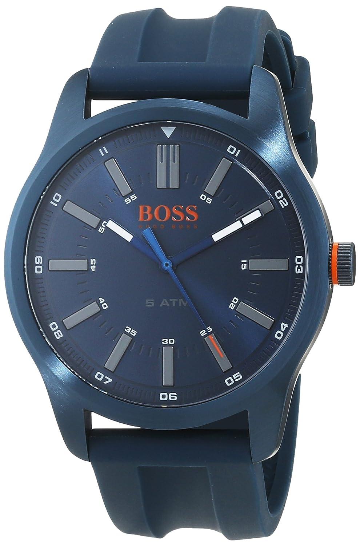 c175f3ec1433 Hugo Boss Orange Homme Analogique Classique Quartz Montres bracelet avec  bracelet en Silicone - 1550046  Amazon.fr  Montres