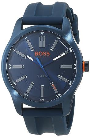 a30266f9c3b5 Hugo Boss Orange Homme Analogique Classique Quartz Montres bracelet avec  bracelet en Silicone - 1550046