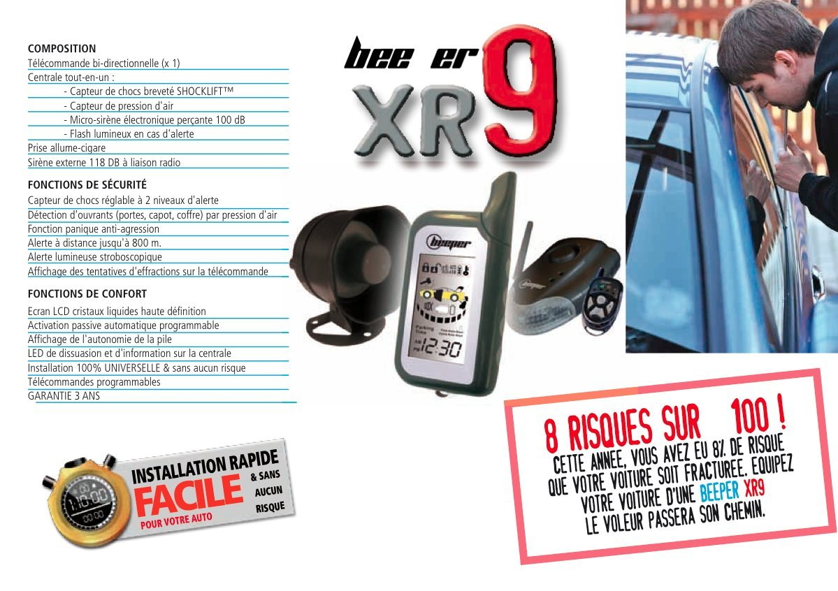 BEEPER XR9 Universal Alarm: Amazon.de: Auto on