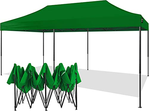 American Phoenix Canopy Tent 10×20 foot Green Party Tent Gazebo Canopy Commercial Fair Shelter Car Shelter Wedding Party Easy Pop Up