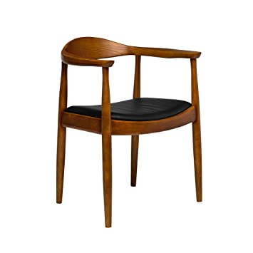 Charmant Hans Wegner Replica Kennedy Arm Chair With Italian Leather, Brown And Black