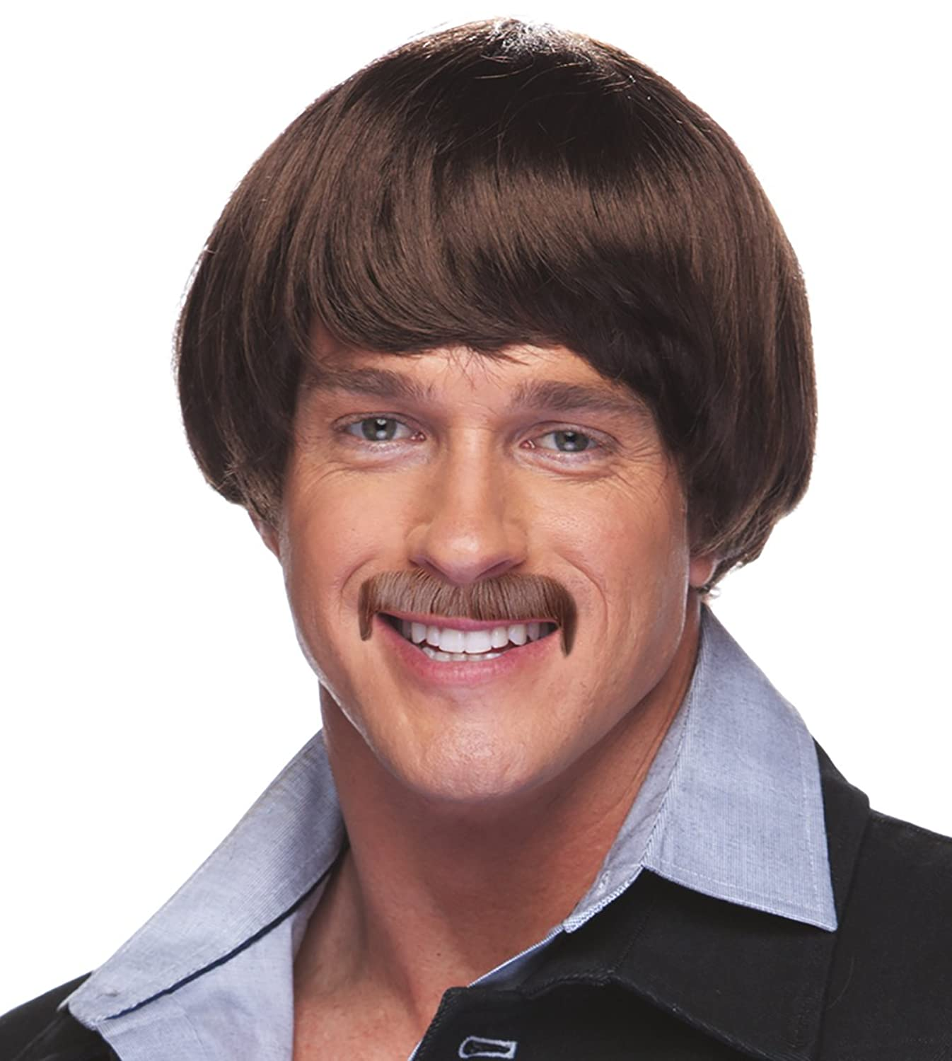Sonny Bono Costume Wig and Mustache