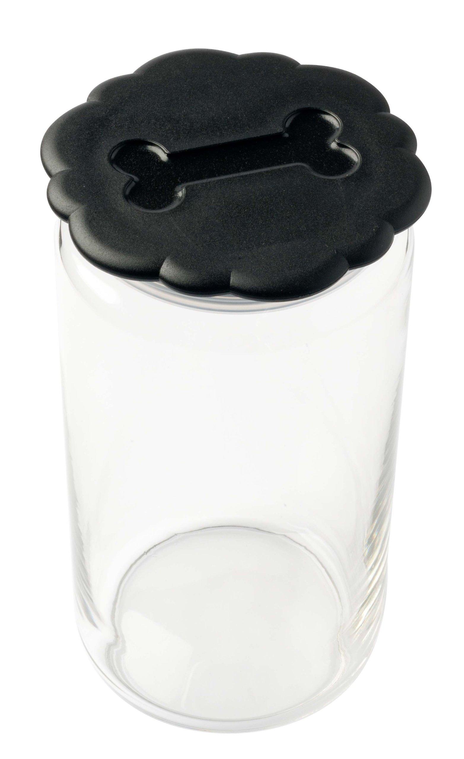 Petego Pet Treat Cookie Jar, Large, Black