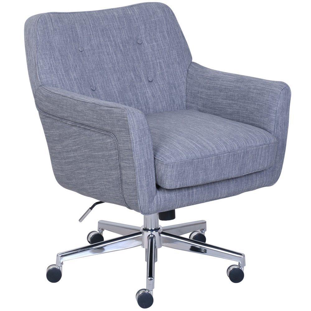 Stylish Office Furniture Inside Serta Style Ashland Home Office Chair Twill Fabric Gray Stylish Chairs Amazoncom