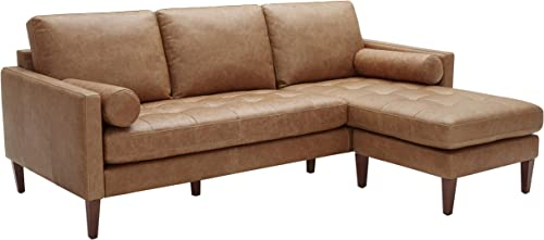 Amazon Brand Rivet Aiden Mid-Century Modern Reversible Sectional Sofa 86″