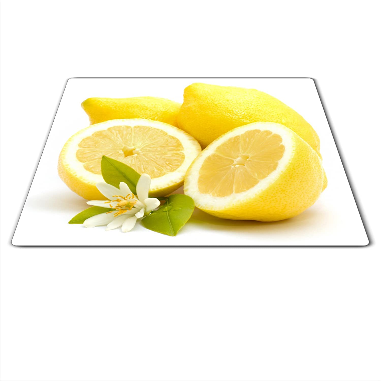 Herdabdeckplatte 59x52 für Ceran//Induktion Zitrone motiv Herdschutz aus Glas
