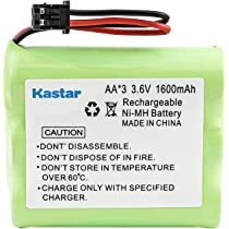 Cobra Kastar High Capacity Cordless Phone Battery Replacement for Uniden BT800 BT-800 BT-905 BP-800 BP-905 GE TL-96560 Sharp Sony BP-T18 BP-T24 Panasonic HHR-P505 P-P501 P-P504 P-P508 P-P510