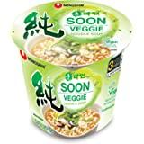 Nongshim Soon Cup Noodle Soup, Veggie, 2.64 Ounce (Pack of 6)