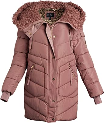 Jessica Simpson Womens Nylon Fashion Puffer Jacket