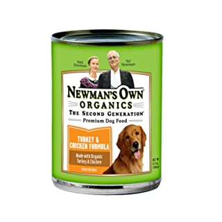 Newman's Own Turkey & Chicken Formula For Puppies & Active Dogs, 12.7-Ounce Cans (Pack Of 12)