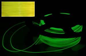 CC DIY- 1KG PLA Glow 1.75mm 3D Printer Filament (Yellow)