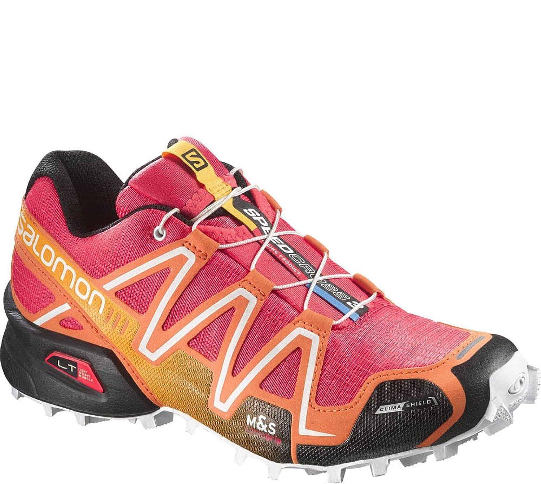 Salomon speedcross 3 CS trail running shoe - women's-papaya/orange/Blk-8.5