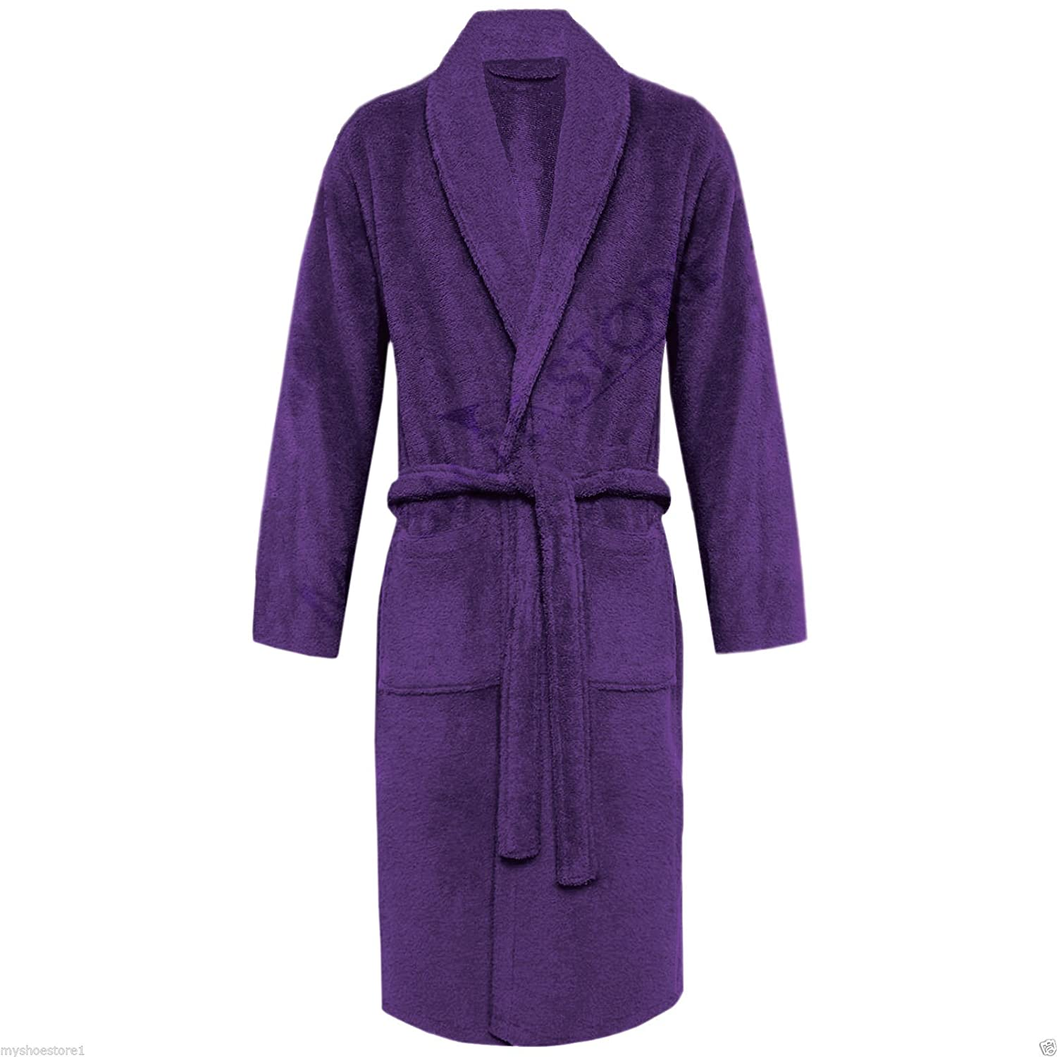 100/% EGYPTIAN COTTON TERRY TOWELLING HOODED BATH ROBE UNISEX DRESSING GOWN TOWEL