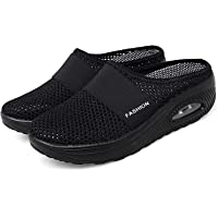 Womens Air Cushion Slip-On Walking Shoes, Orthopedic Diabetic Walking Shoes, Comfort Breathable Elderly Shoes…