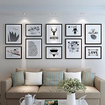 Amazon.com: WUXK The Nordic photo wall frame wall living ...