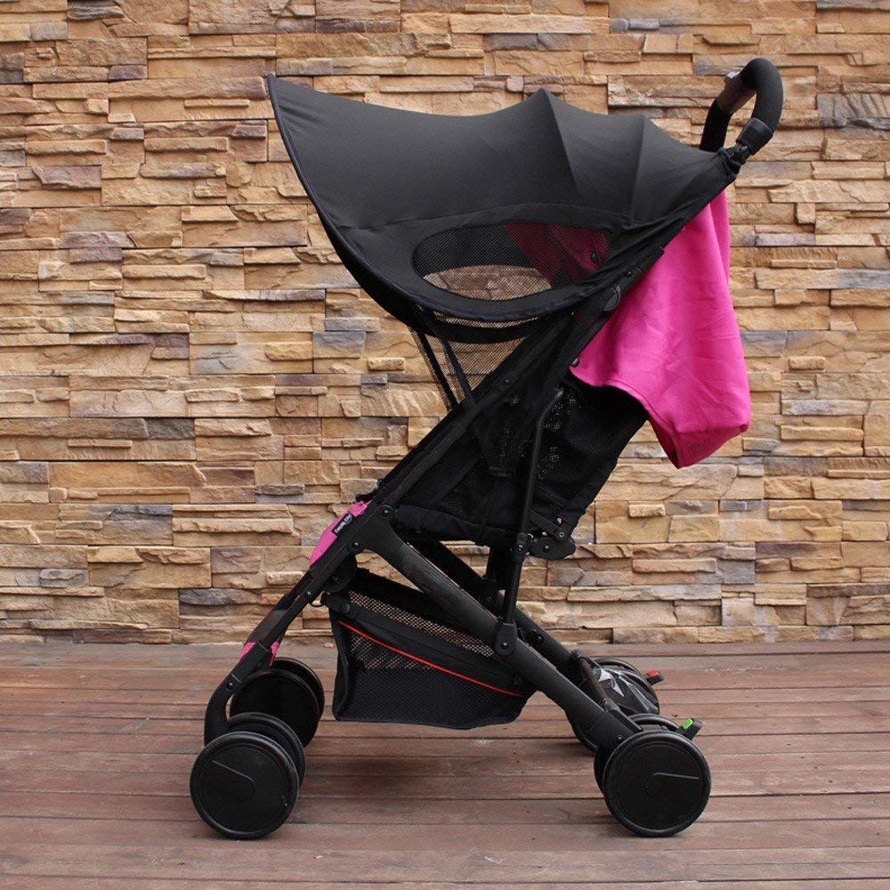 ZLMI Version of Baby Stroller Sun Visor Carriage Sun Shade Canopy Cover for Prams Stroller Accessories Car Seat Buggy Pushchair Cap Sun Hood Black by ZLMI (Image #2)