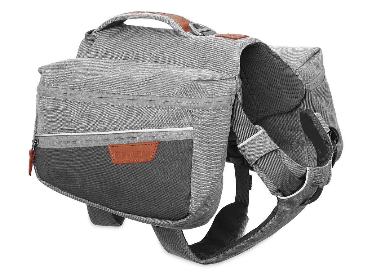 RUFFWEAR Dog Pack for Everyday Use, Small Breeds, Adjustable Fit, Size: Small, Cloudburst Grey, Commuter Pack, 5050-045S