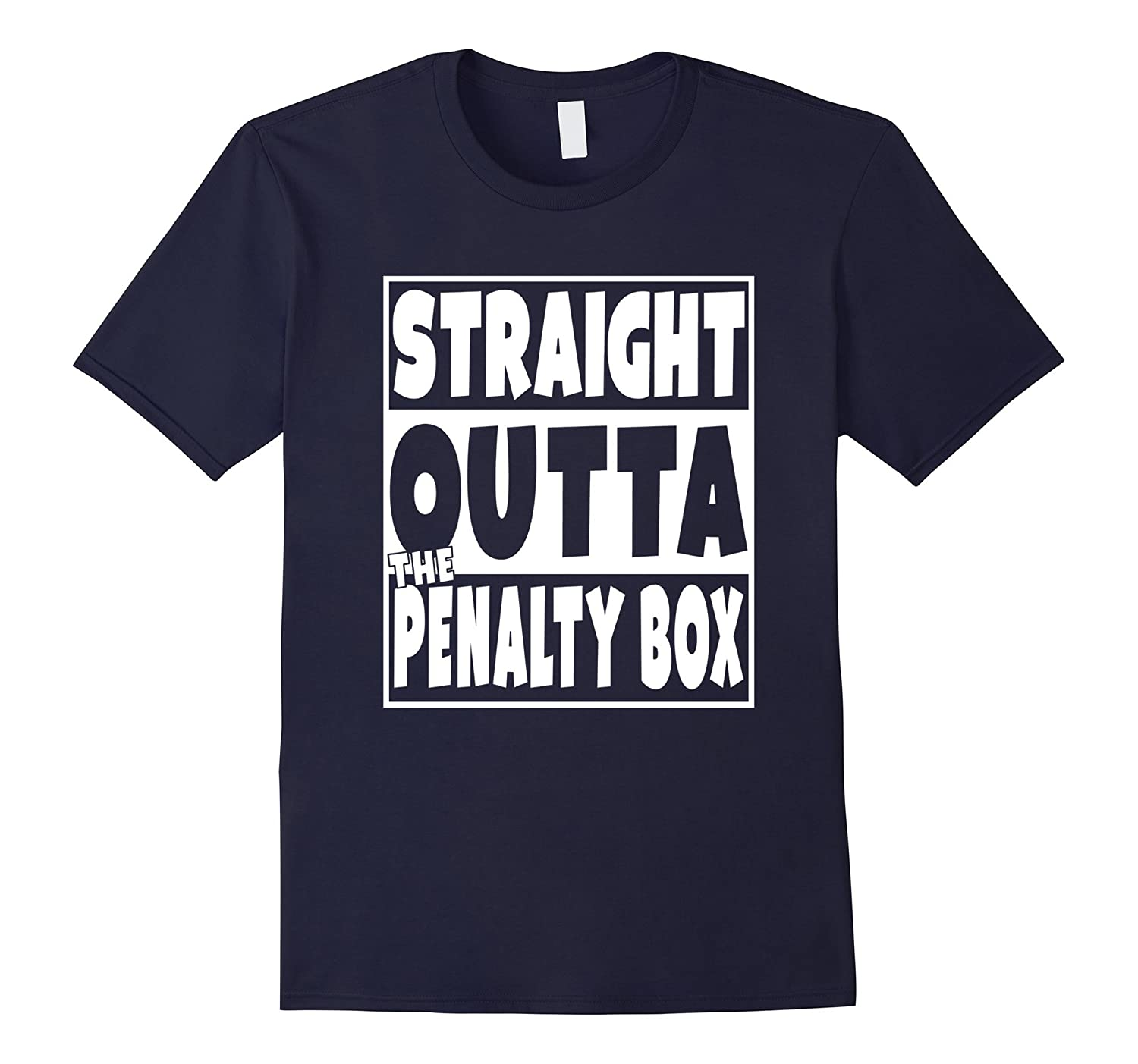 Straight Outta The Penalty Box T Shirt Funny Hockey Gift-Teesml