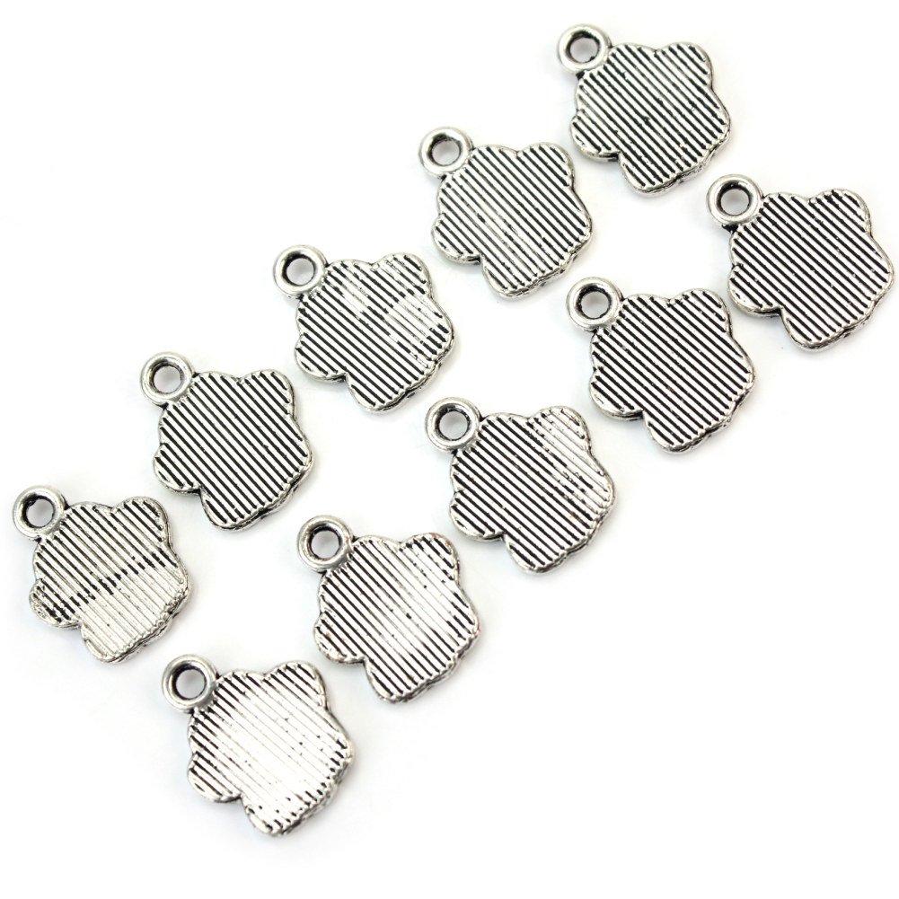 Pinzhi 30X Metal Colgantes Charms Dijes Forma Huella de Perro para DIY Collar Pulsera
