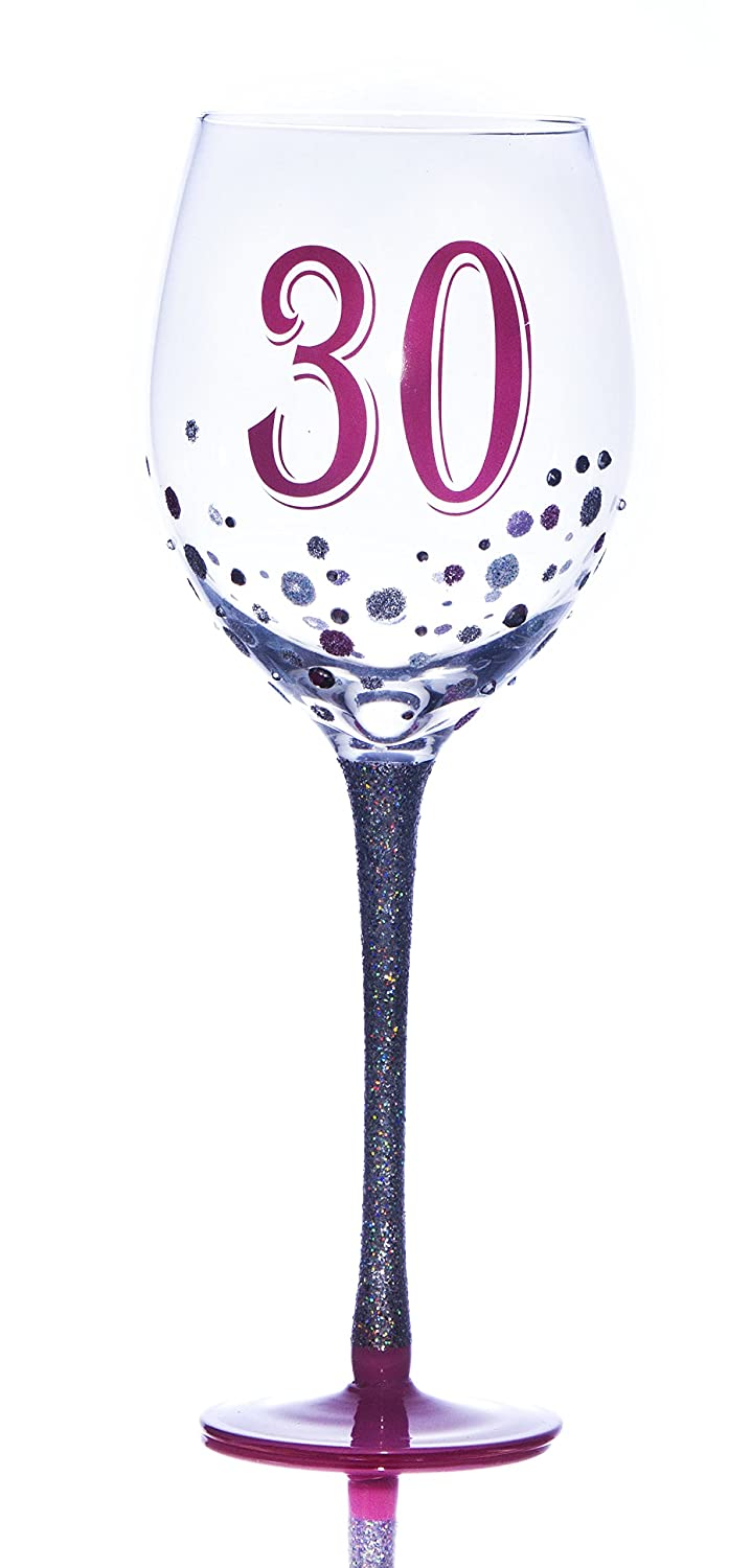 Boxer Age 30 Sparkle Wine Glass, Multi-Colour GWW530