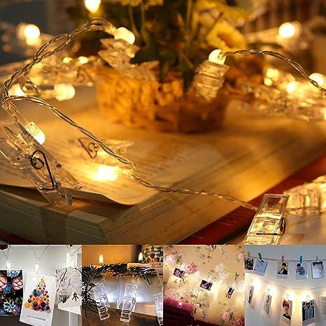Led Bilder Weihnachten.Led Foto Clips Lichterkette Jtdeal 16 Foto Clips 4 Meter