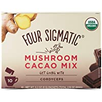 Four Sigma Foods Mushroom Hot Cacao Mix with Cordyceps Herbal Tea
