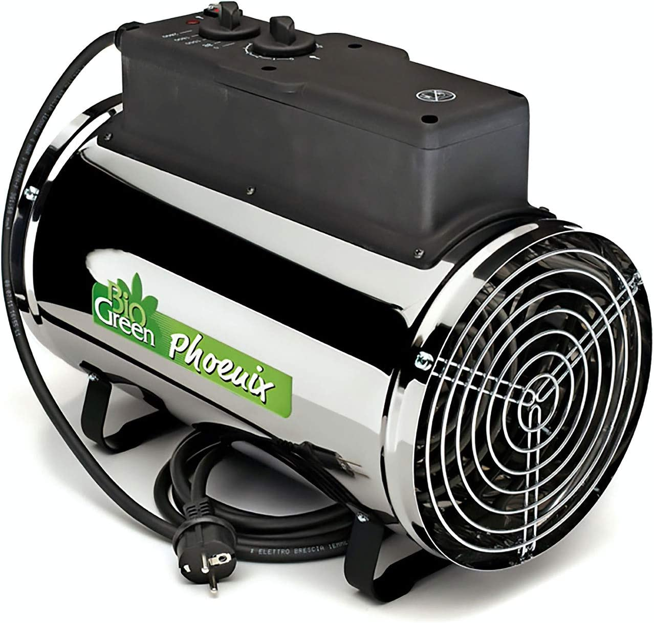 Bio Green PHX 2.8/US Phoenix Electric 3412/6141/9553 BTU 1000/1800/2800 W 220-240 V Greenhouse Heater, 2 Years Warrenty, 41 x 22 x 33 cm, stainless steel