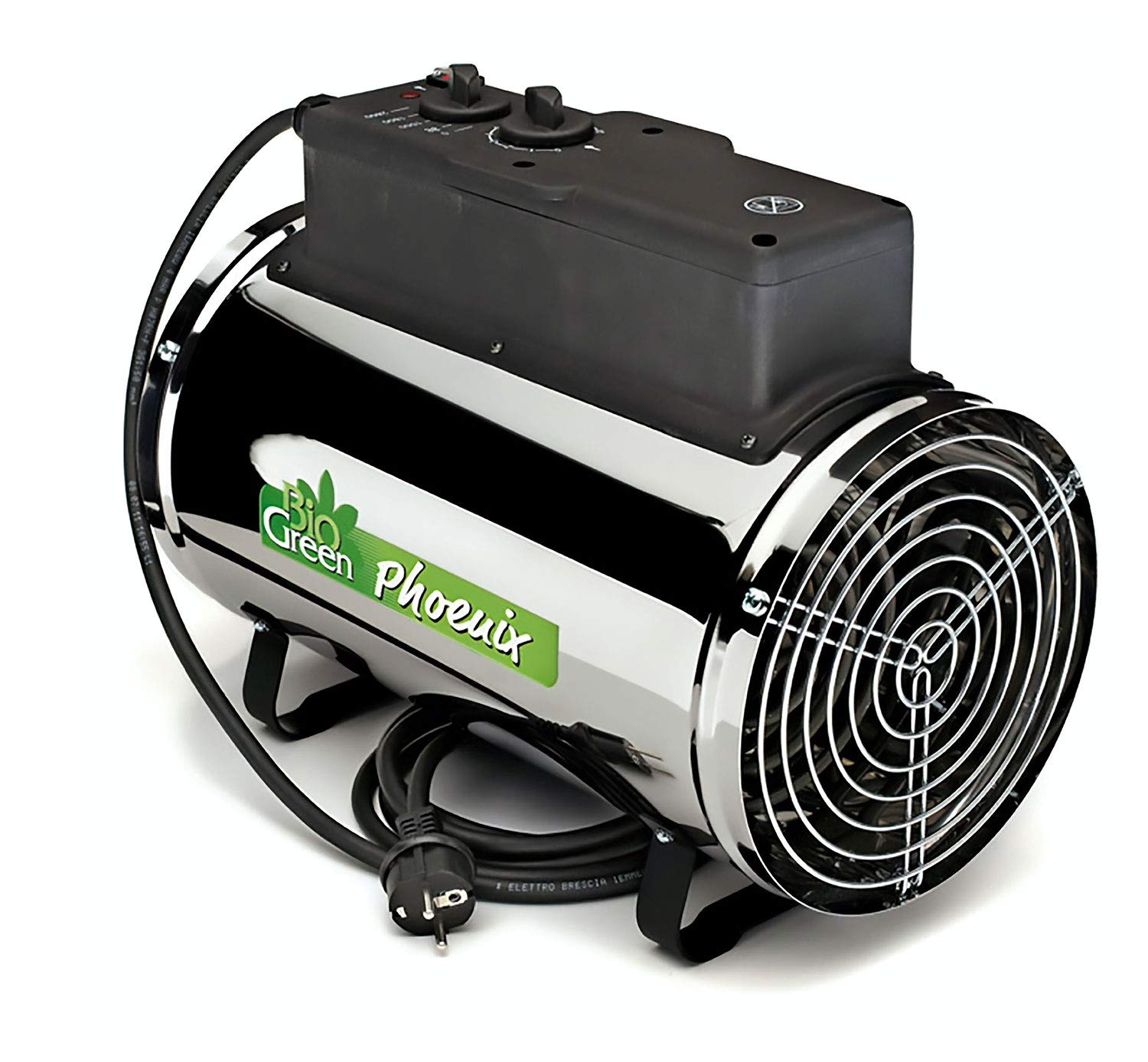 Bio Green PHX 2.8/US Phoenix Electric 3412/6141/9553 BTU 1000/1800/2800 W-240 V Greenhouse Heater, 2 Years Warrenty, 18 x 15 x 11 in, Silver by Bio Green