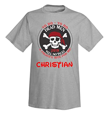 418bc013 DisGear Pirate Night Cruise Lines T-Shirt for Adult Men and Youth with  Personalization Option