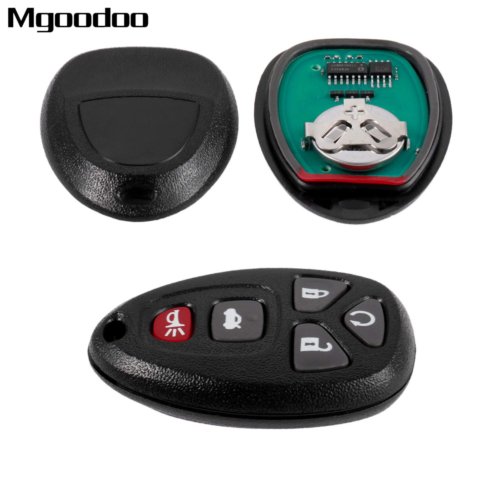 Daphot-Store - 5 Buttons Car Remote Key Case Shell KOBGT04A Keyless Entry Key Fob For Chevrolet Malibu Cobalt Pontiac G5 Buick Allure LaCrosse
