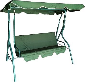 Verde al aire libre jardín balanceando Swing hamaca amortiguado 3 ...