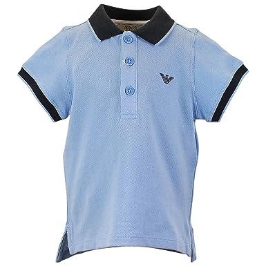 Armani bebé Polo de manga corta para hombre, color azul claro ...