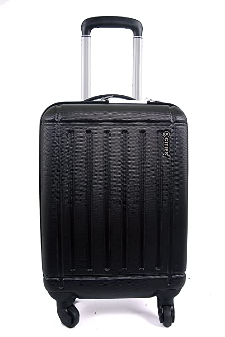 2cf150166 5 Cities Lightweight ABS Hard Shell Carry On Cabin Hand Luggage Suitcase  with 4 wheels,
