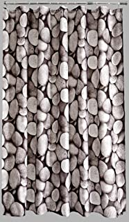 Aqualona Pebbles Shower Curtain, Cotton, Silver