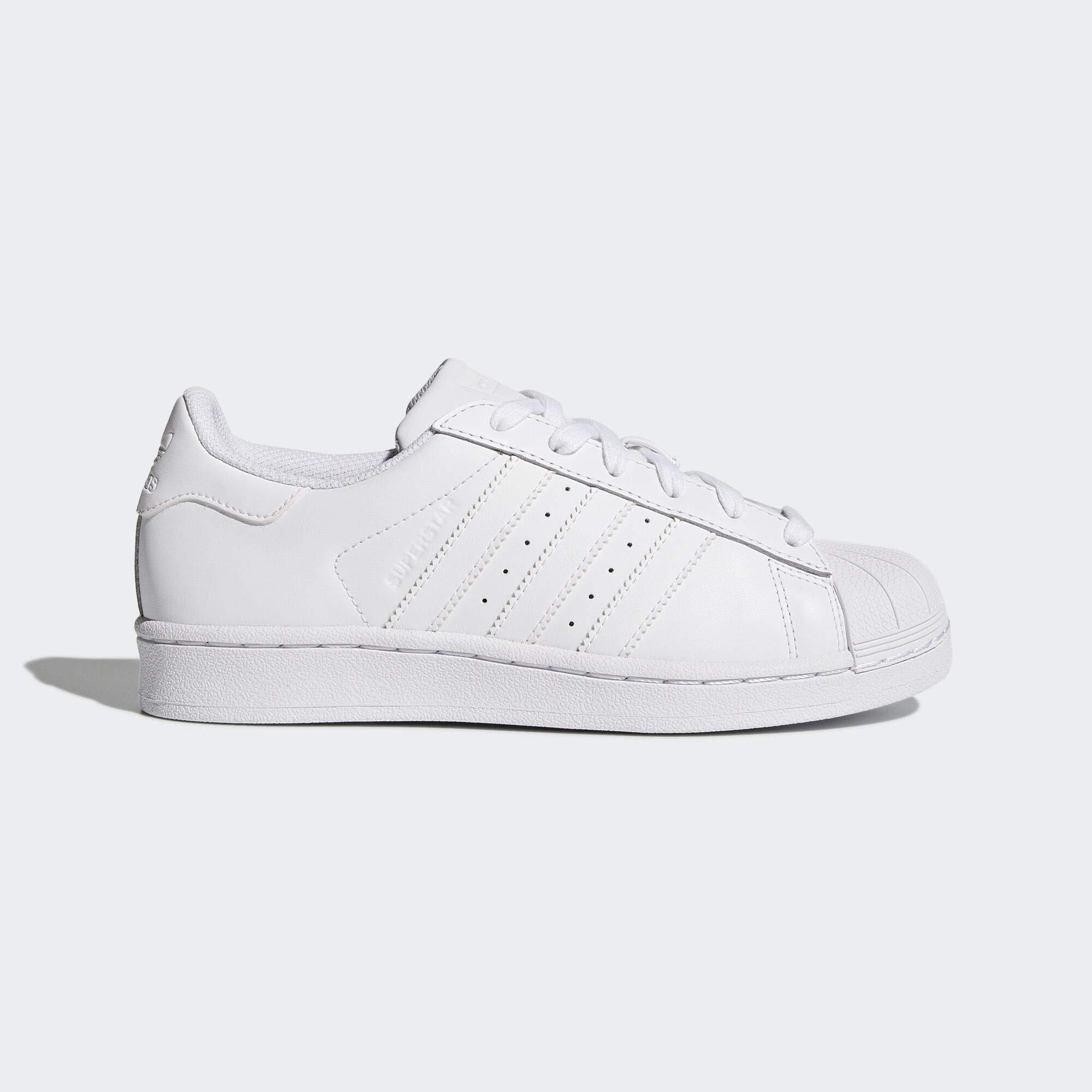 adidas Originals Superstars Running Shoe, Pure White, 4 Big Kid by adidas Originals