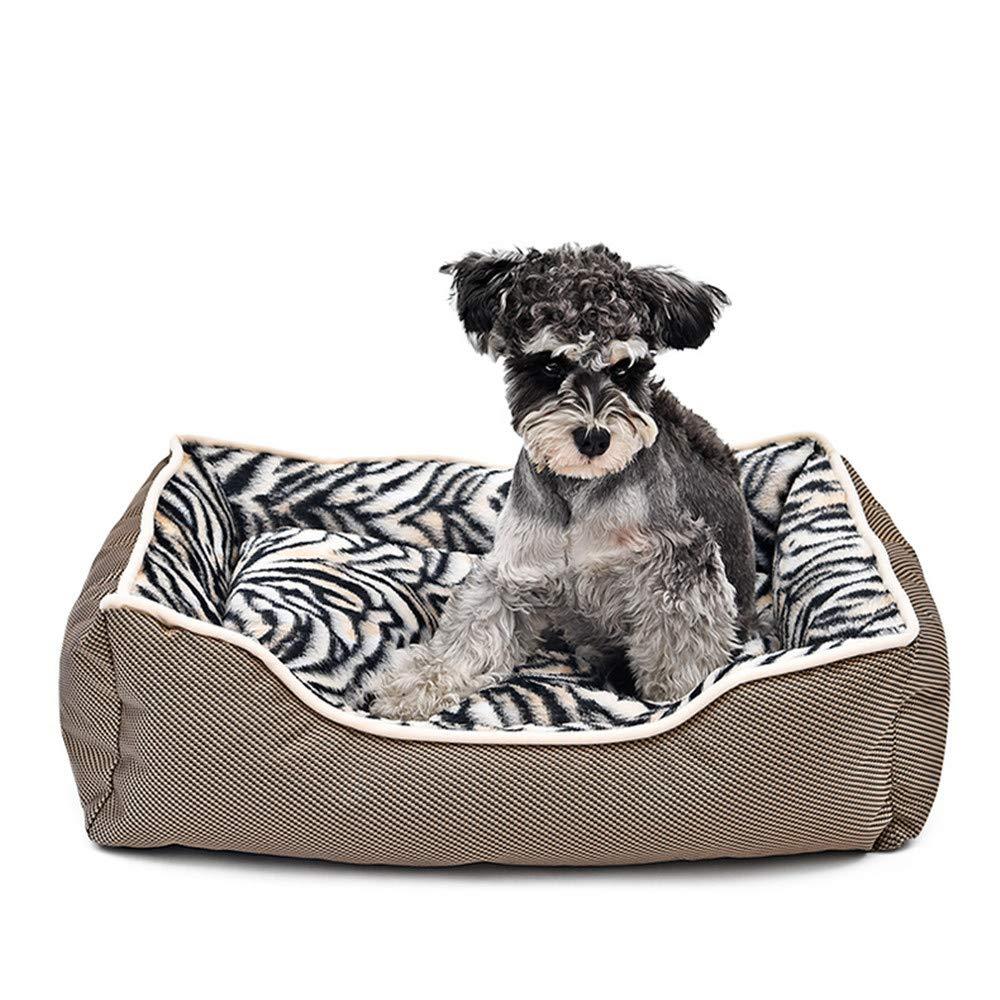 popolare Wuwenw Prodotti per Animali Leopard Zebra Dog Bed Bed Bed Casa Spessa di Lusso per Il Cane Lettino per Gatti Cuscino Morbido Foranimals Cucciolo Cestino Mat Forniture per Cani, XS  economico e di alta qualità