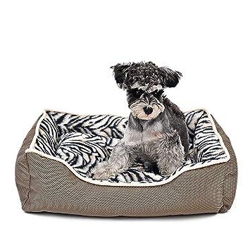 Wuwenw Productos para Mascotas Leopard Zebra Cama para Perros Casa Gruesa De Lujo para Perros Cama