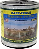 Powerfields K-3 Safe-Fence, Electric Fence Poly Tape, 200-Feet Roll, 1.5-Inch Wide, White
