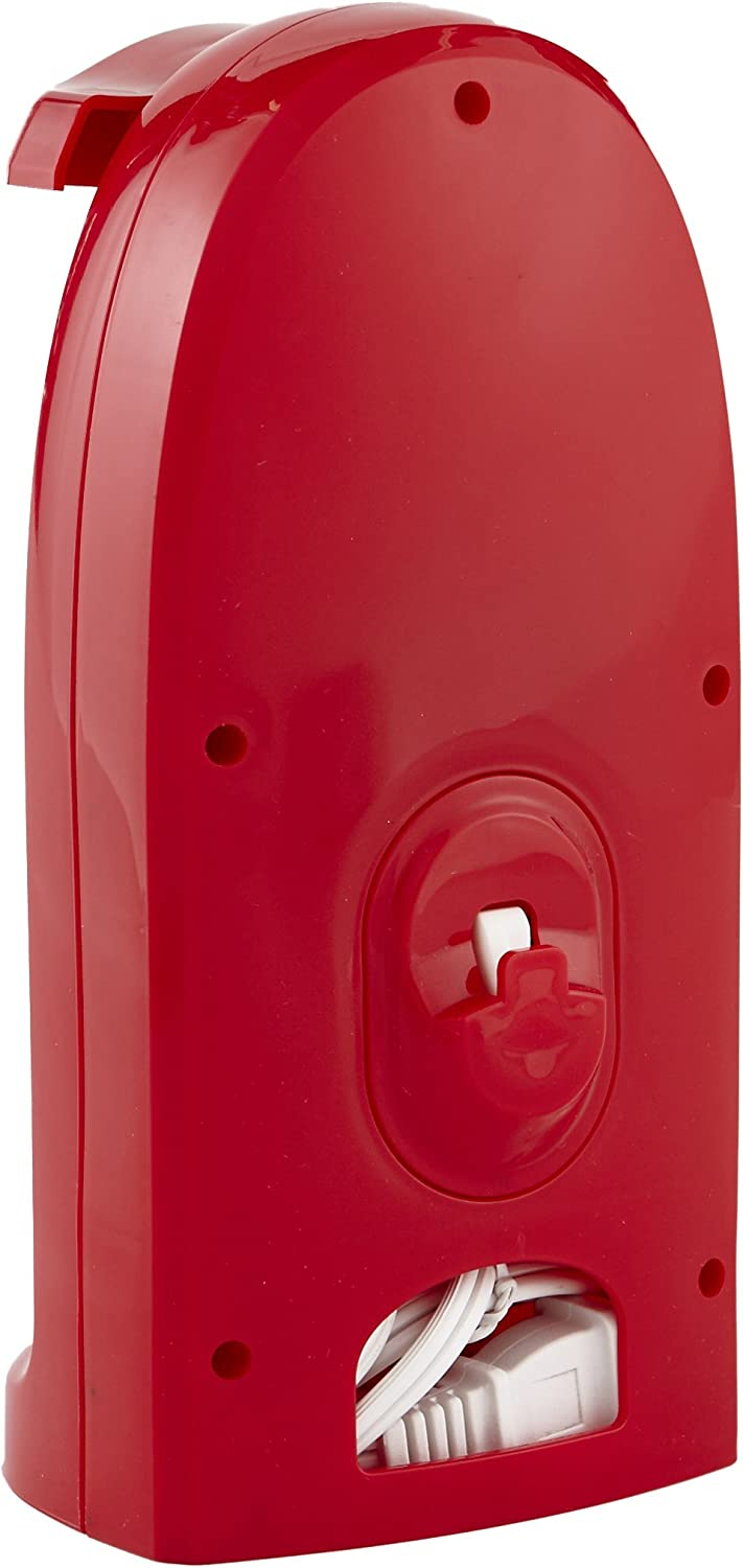 IMUSA USA GAU-80322R Electric Can Opener with Bottle Opener and Knife Sharpener, Red