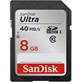 SanDisk Ultra 8GB Class 10 SDHC Memory Card Up To 40MB/s- SDSDUN-008G-G46 [Newest Version]